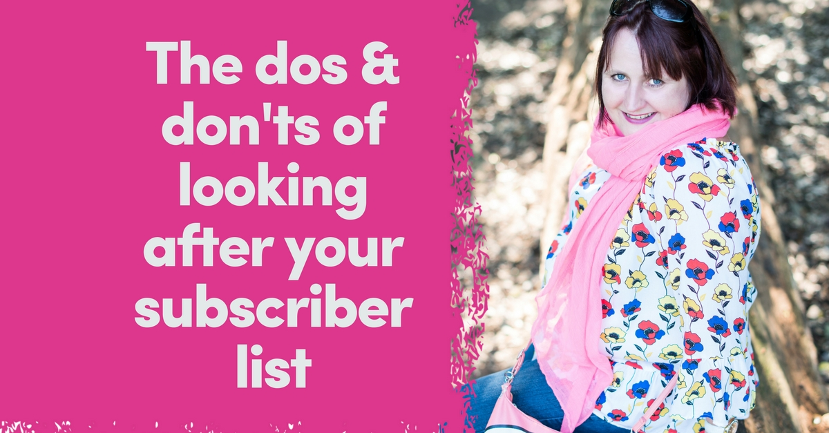 The Dos & Don'ts of Looking After Your List | List Building For Coaches