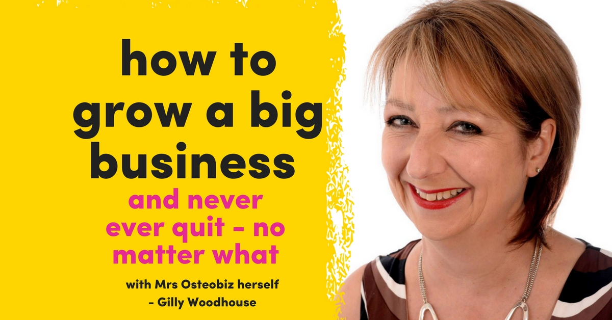 The Queen Of Osteopath Business Development