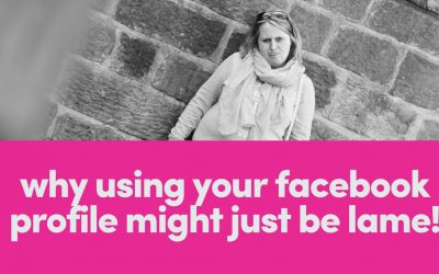 Why Using Your Facebook Profile Might Just Be Lame