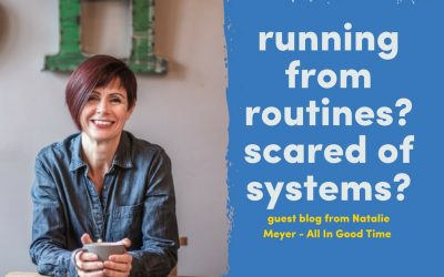 Do you run from routines? Are you scared of systems?