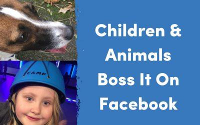 Children & Animals Boss It On Facebook