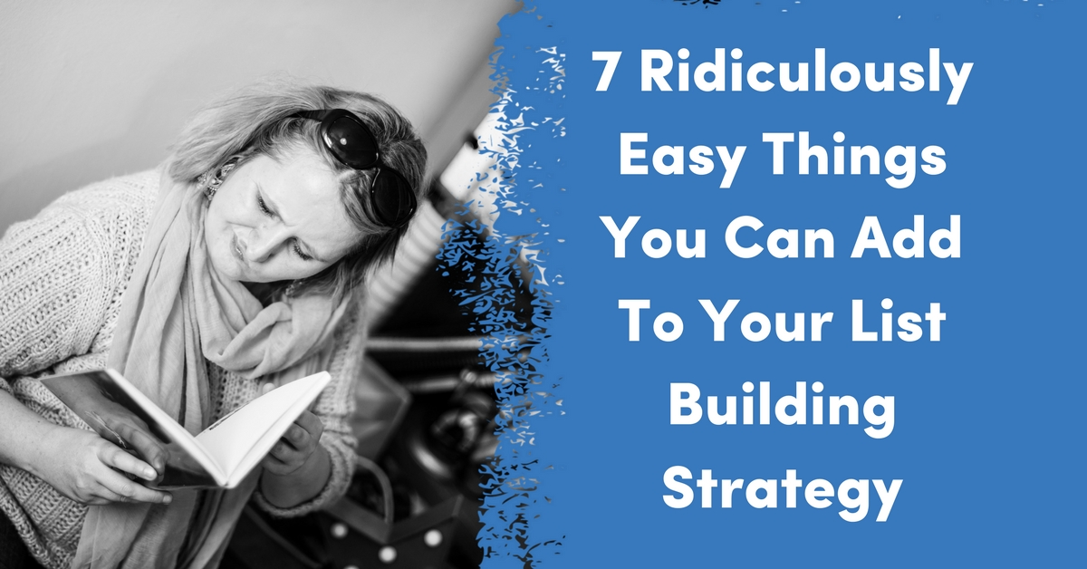 7 Ridiculously Easy Things You Can Add To Your List Building Strategy